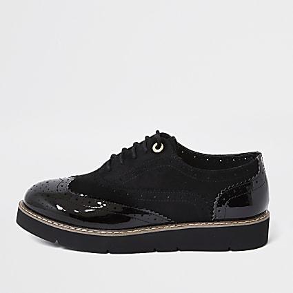 Black brogue lace up shoe
