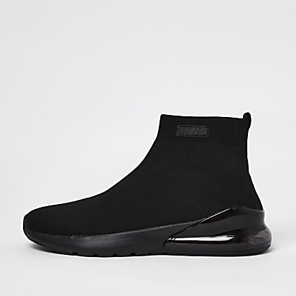 Black bubble sock trainers