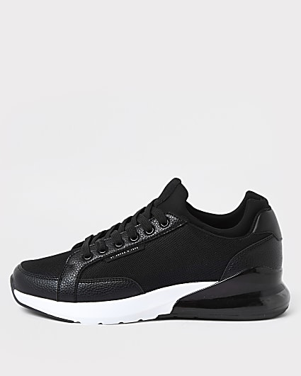 Black bubble sole lace up runners