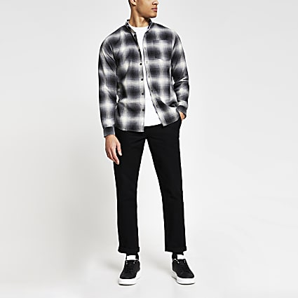 Black casual carpenter chinos