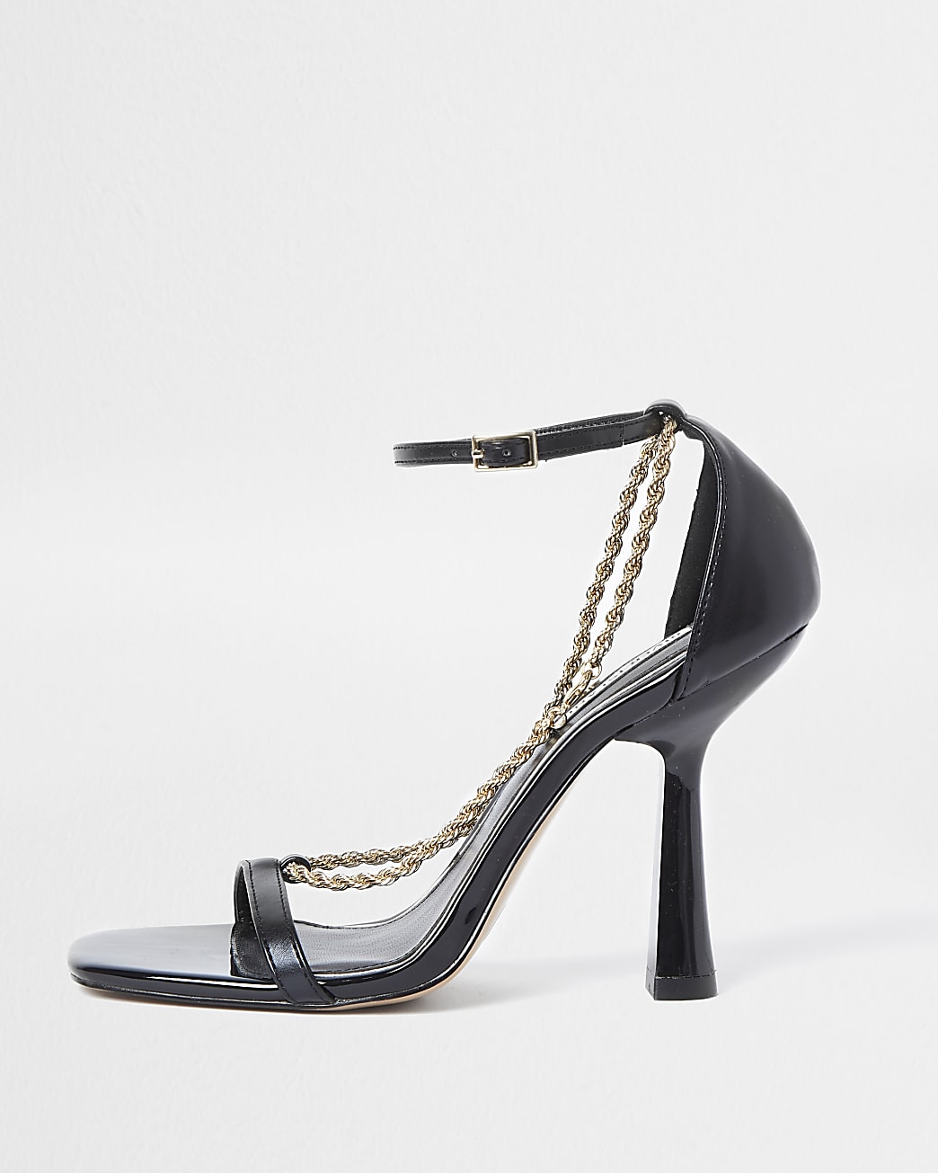 Black chain detail heels