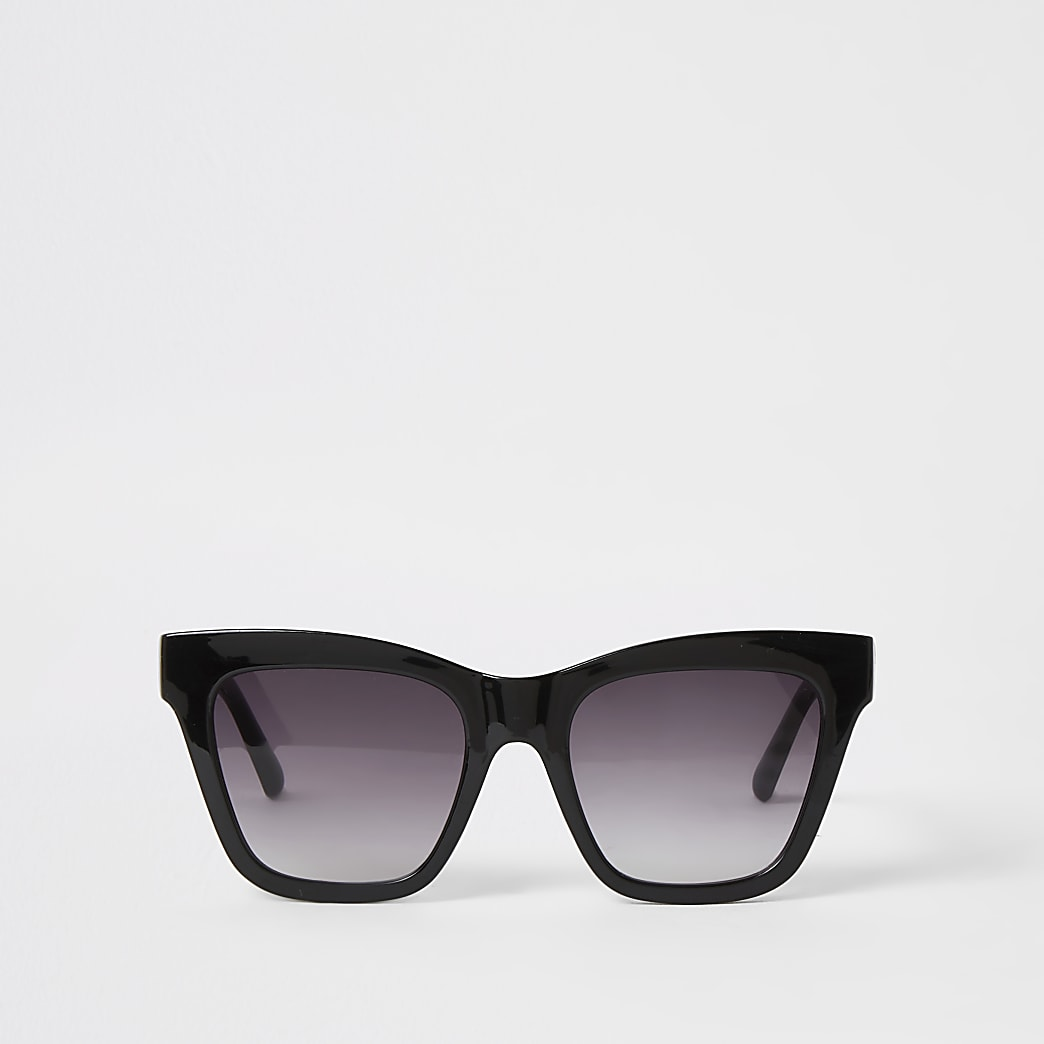 Black chain embossed glam sunglasses