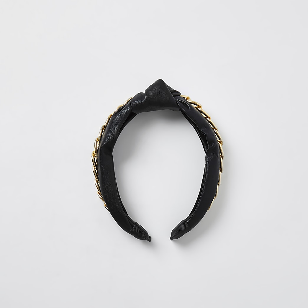 Black chain knot headband