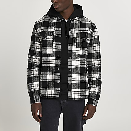 Black check 'CORP STUDIOS' shirt