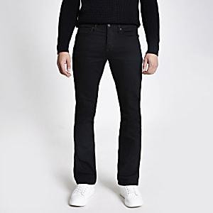 Clint – Schwarze Stretch Bootcut Jeans