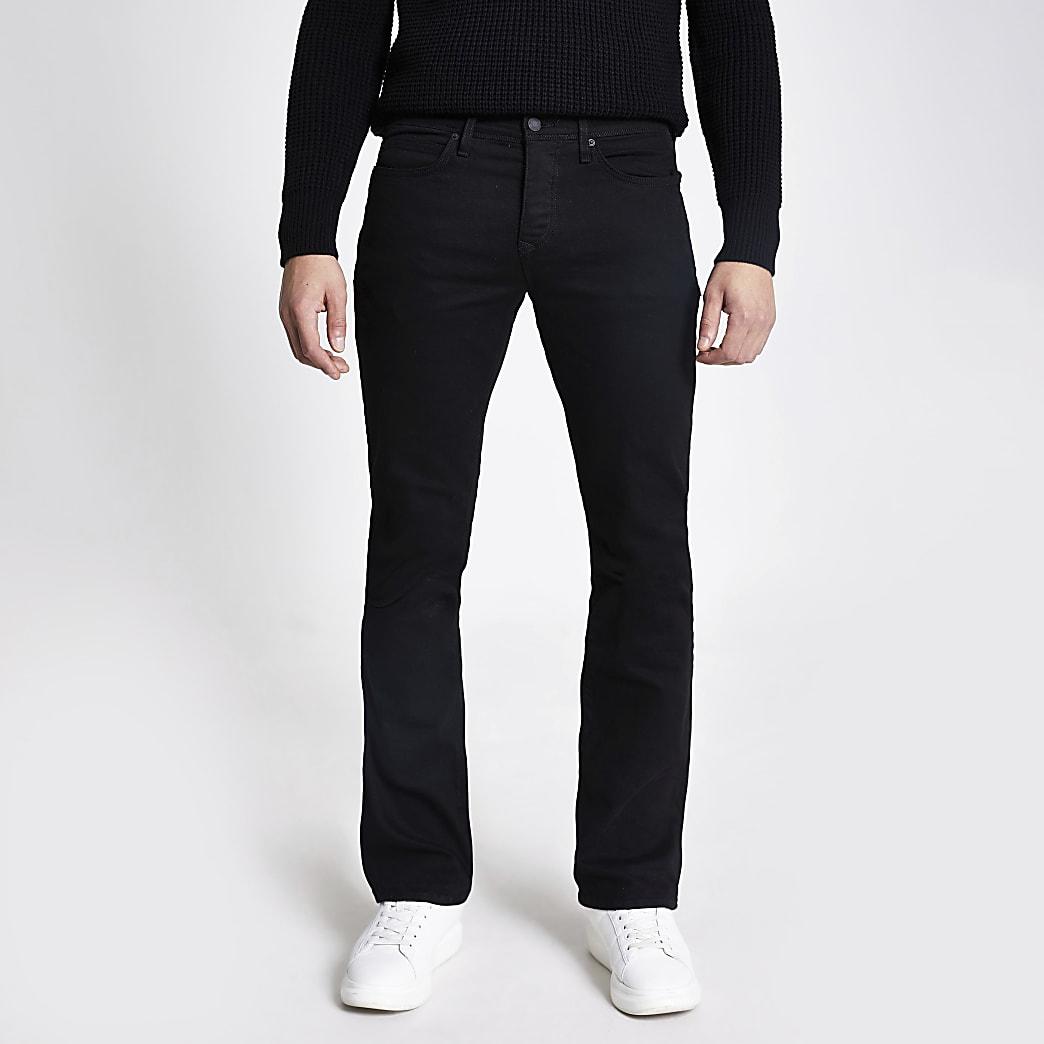 Clint - Zwarte bootcut stretchjeans