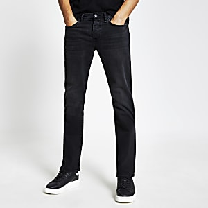 Clint – Jean bootcut stretch noir