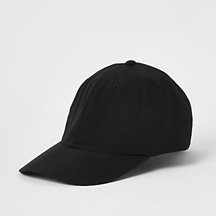 Black clip back baseball cap
