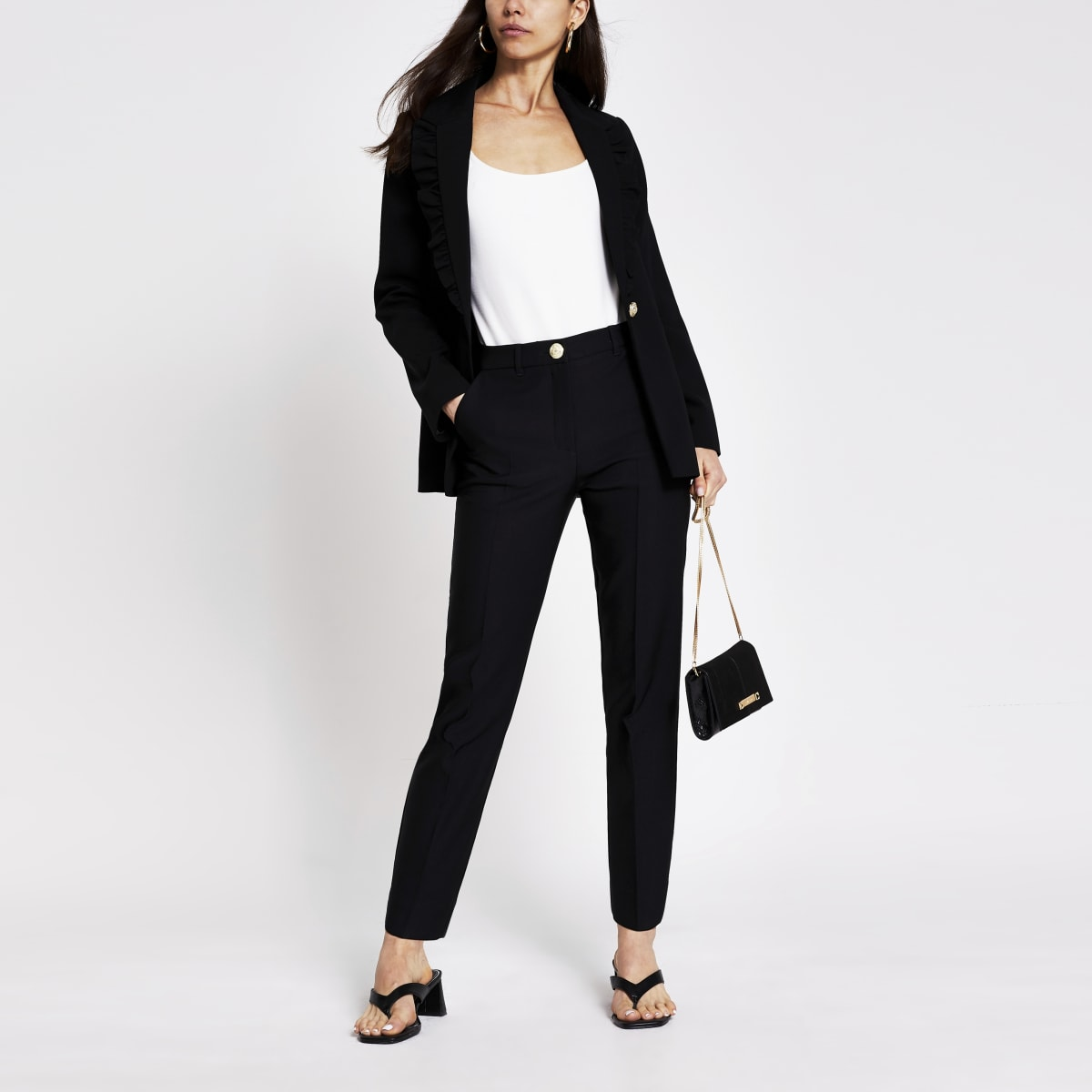Black clove cigarette trouser