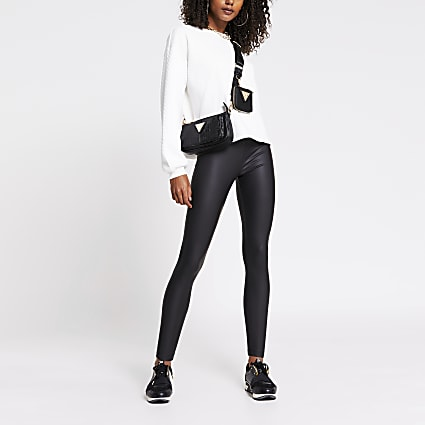 Black coated legging
