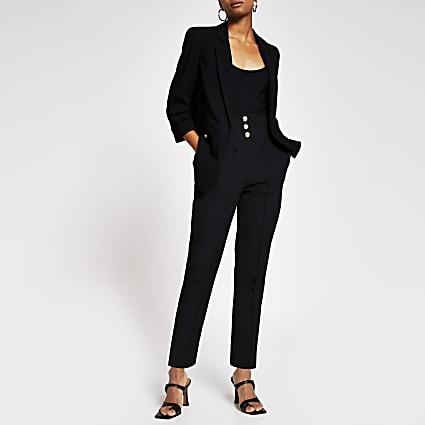 Black Corset waist Cigarette Trouser