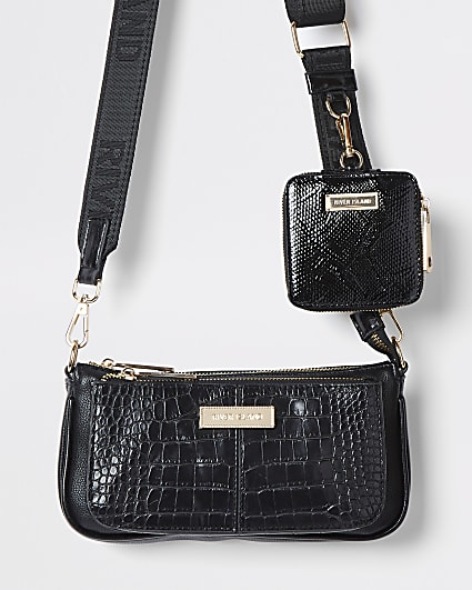 Black cross body RI bag