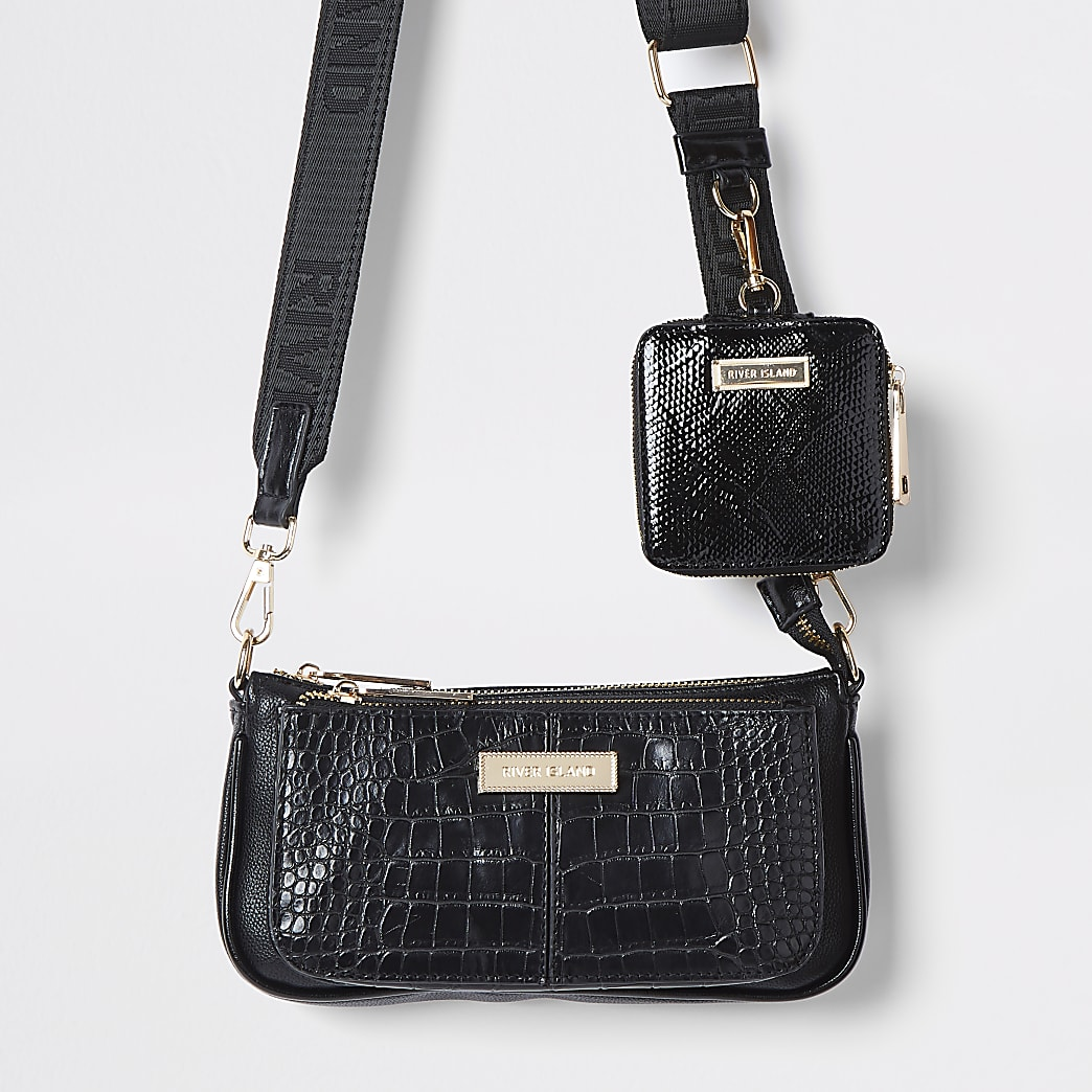 Black cross body RI bag