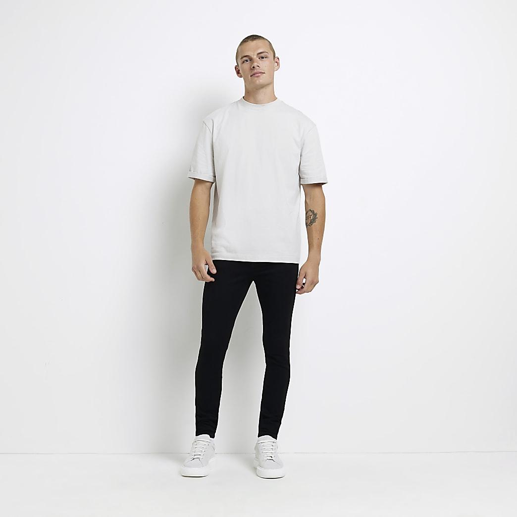 Black crow spray on skinny jeans