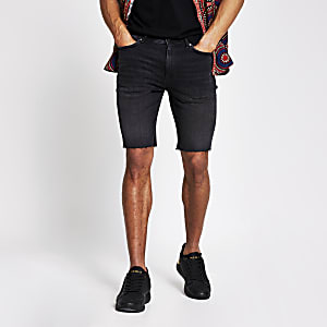 Black cut off Sid skinny denim shorts
