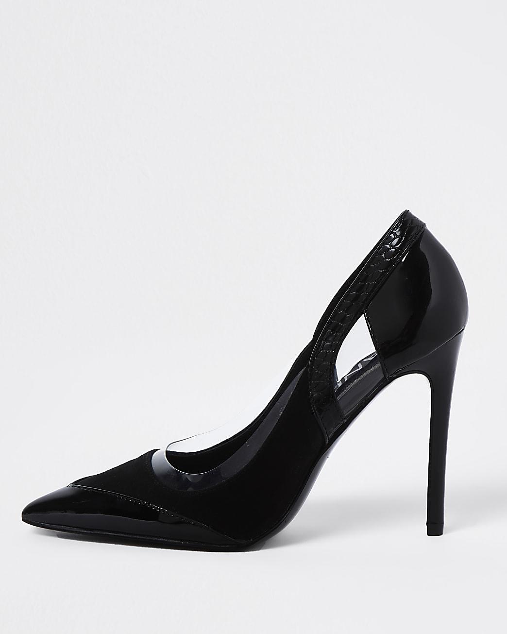Black cut out high court heel
