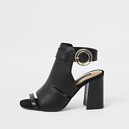 Black cut out shoe boot