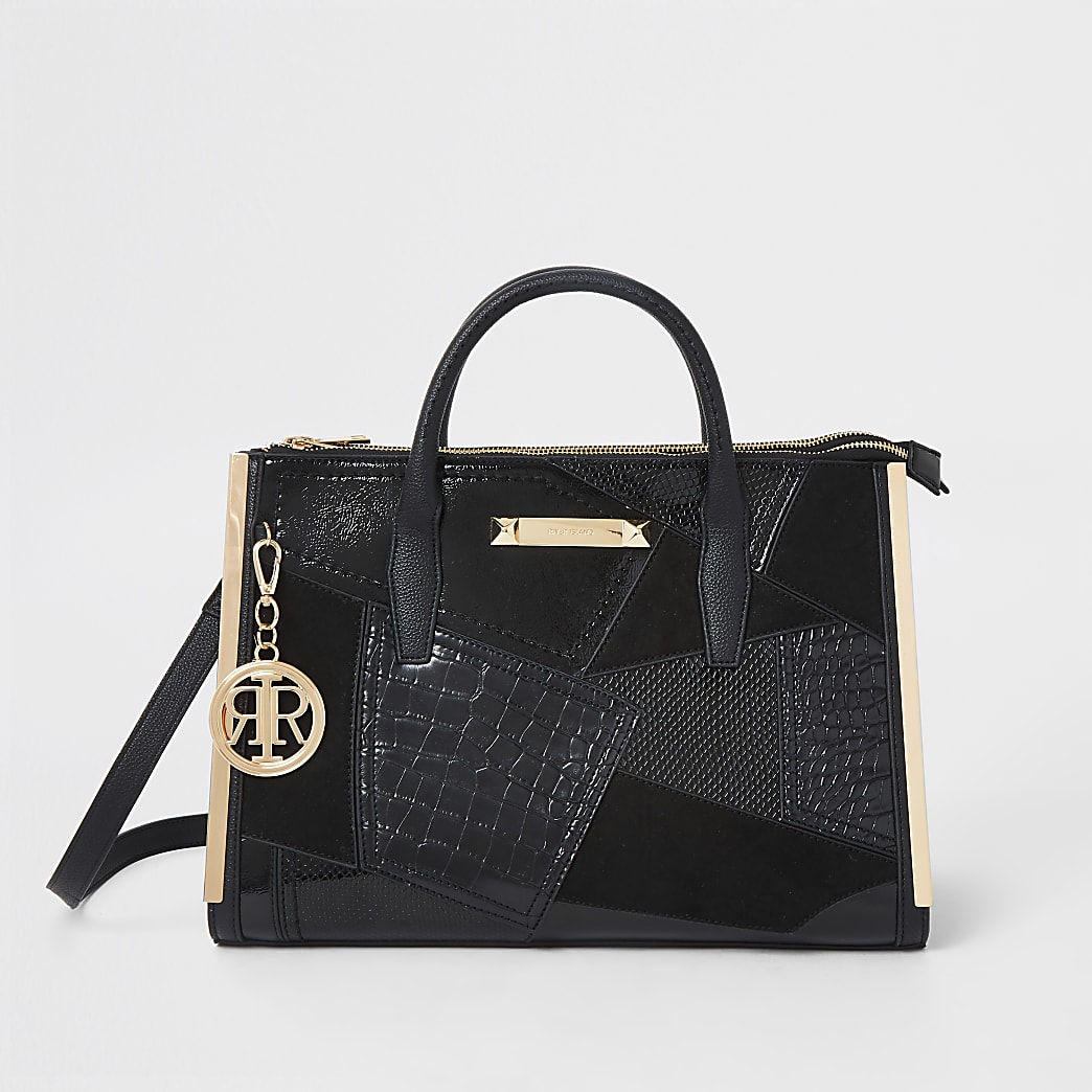 Black cutabout large tote bag