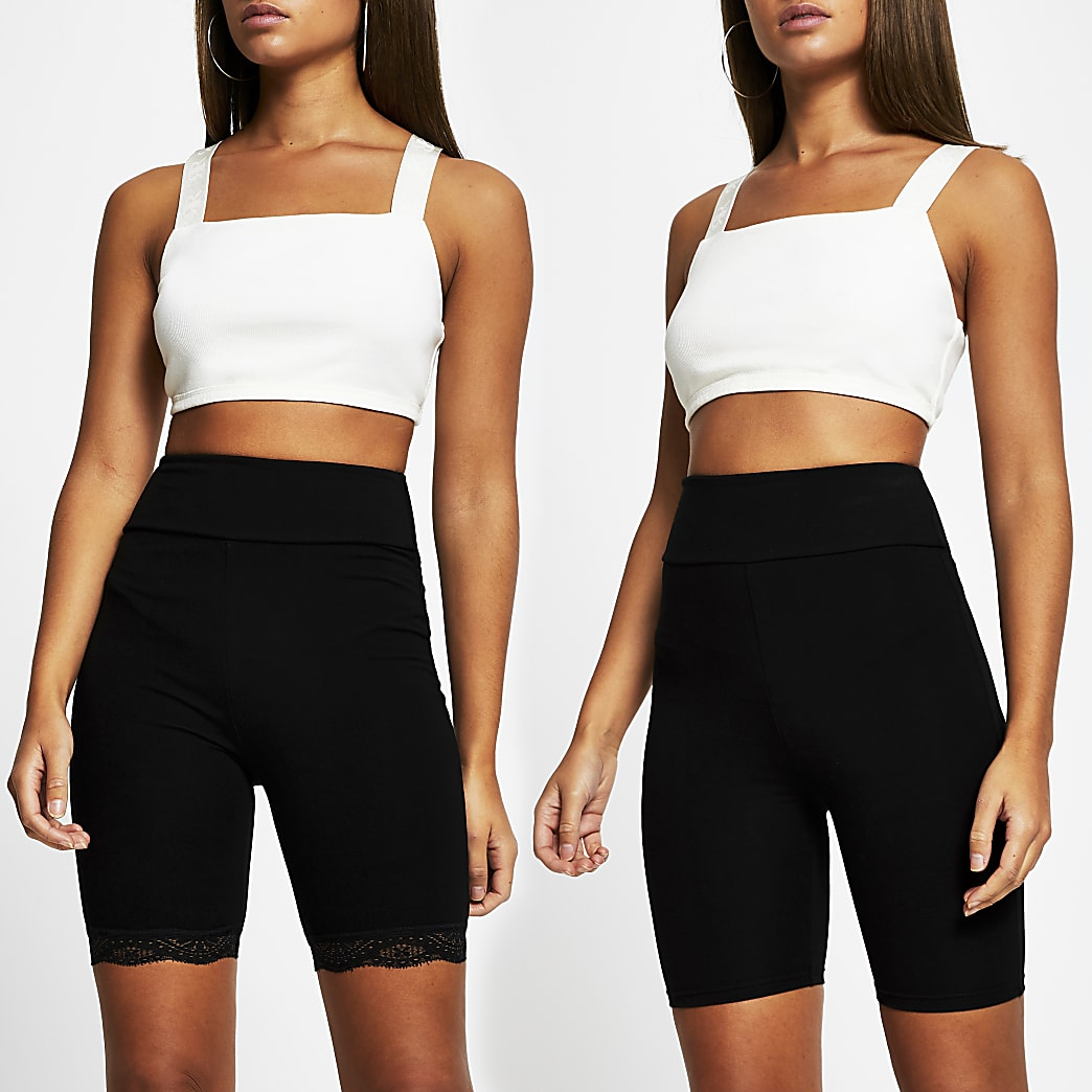 Black cycling shorts 2 pack