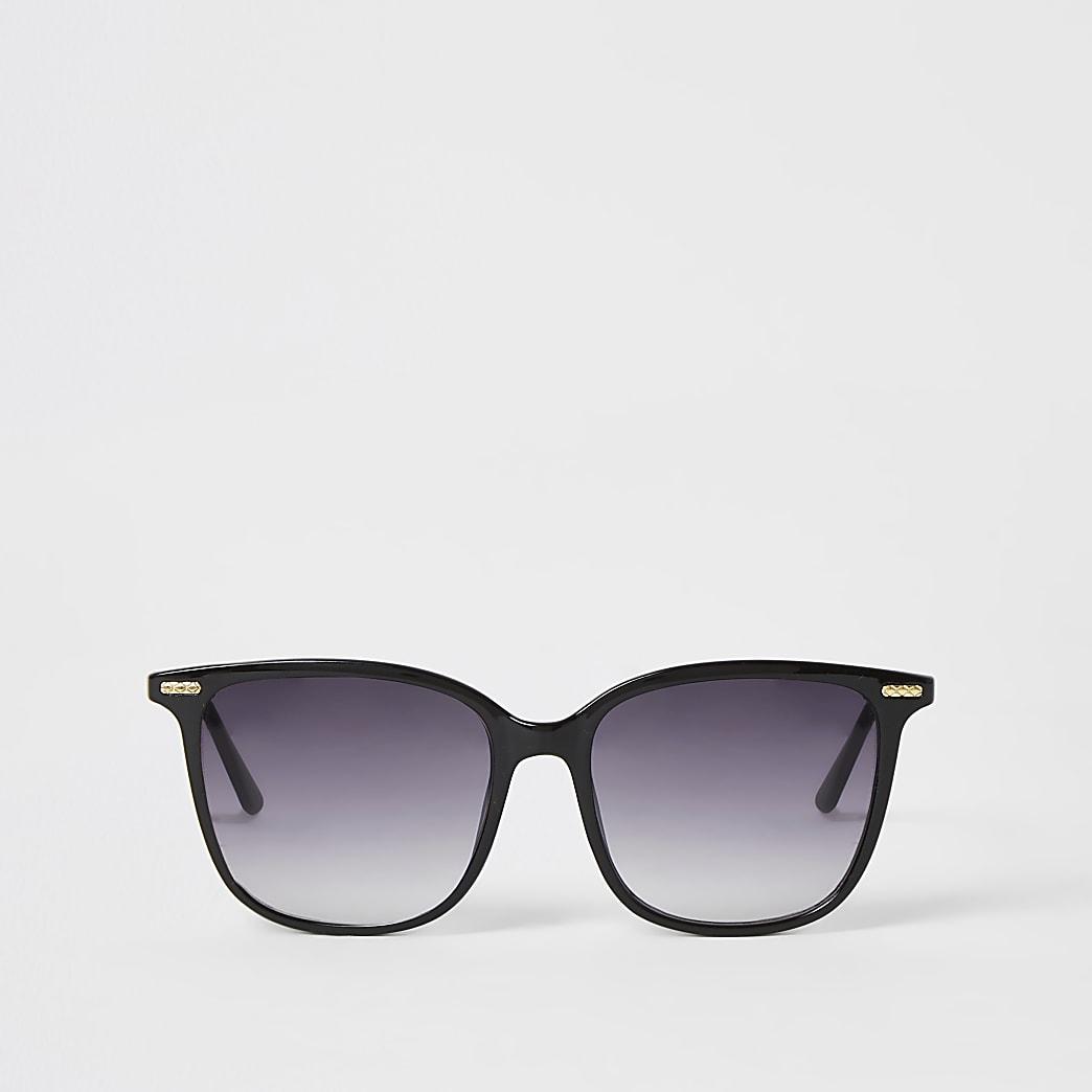 Zwarte zonnebril met D-montuur