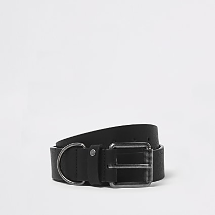 Black D-ring buckle belt