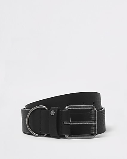 Black D-ring buckle belt