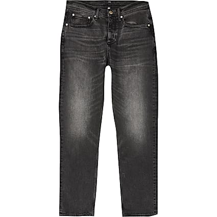 Black Dean straight fit jeans