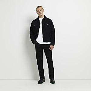 Dean - Zwarte jeans met rechte pijpen