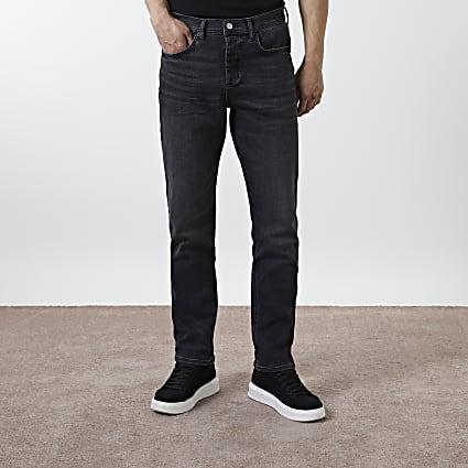 Black Dean straight leg jeans