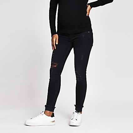 Black denim Amelie maternity jeans
