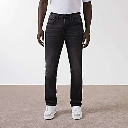 Black denim straight sorrento jeans