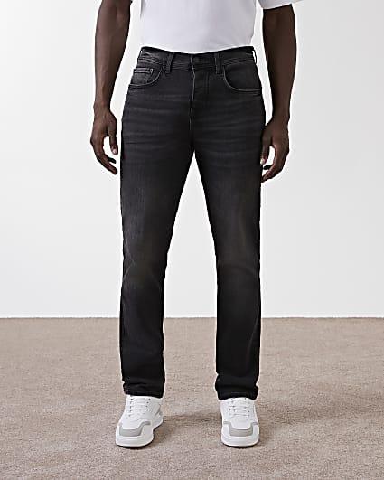Black denim straight sorrento jeans