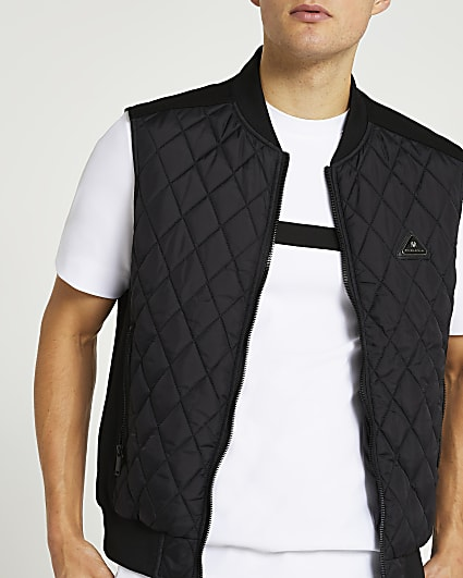Black diamond quilted gilet