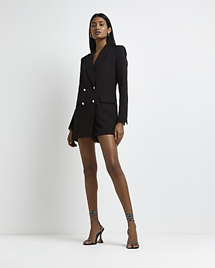 Black double breasted blazer jumpsuit