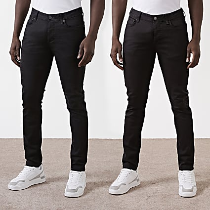 Black Dylan slim fit jeans 2 pack