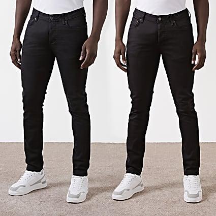 Black Dylan slim fit jeans 2 pack