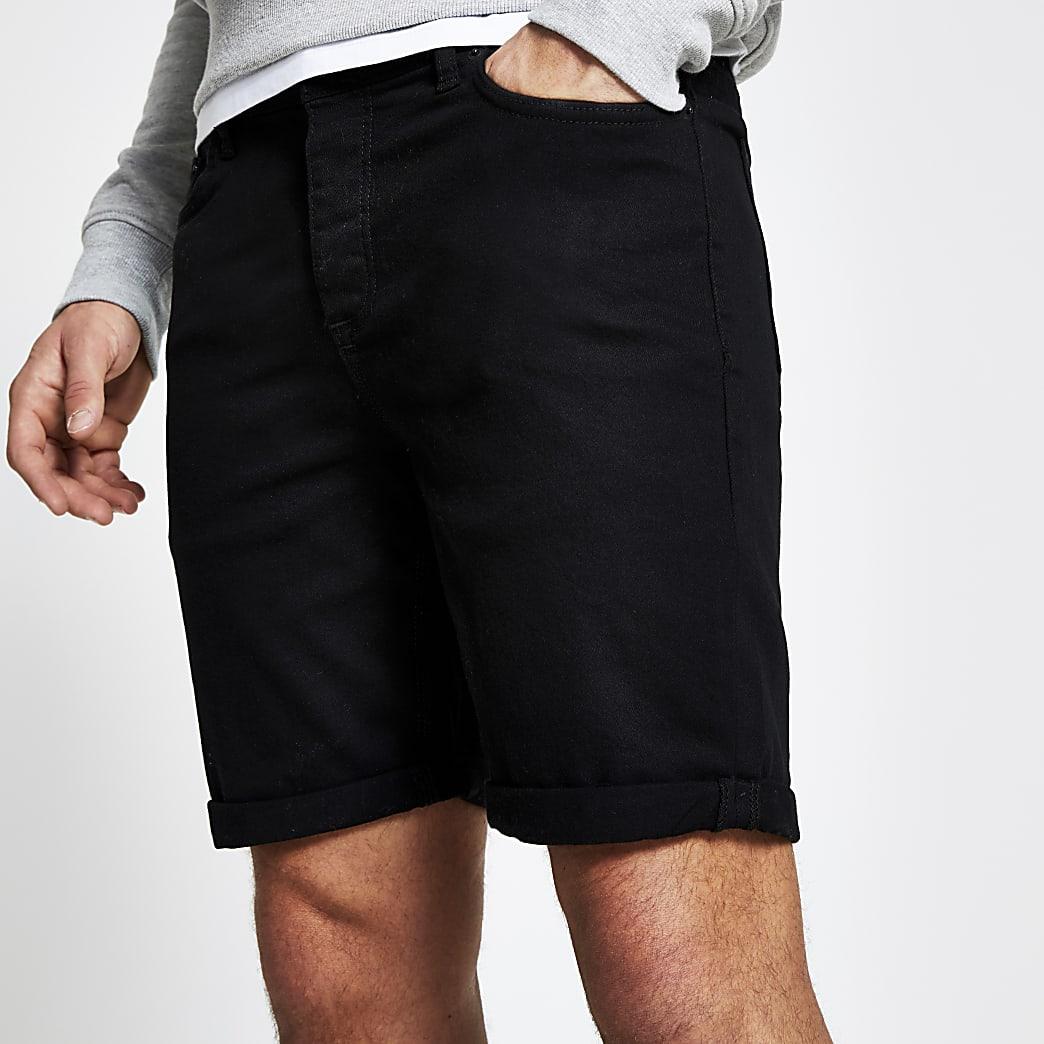 Zwarte slim-fit Dylan shorts