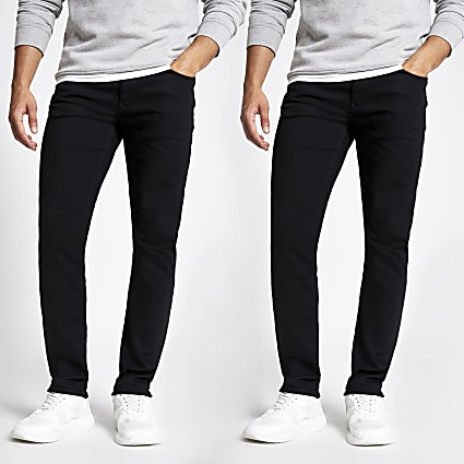 Black Dylan slim jeans 2 pack