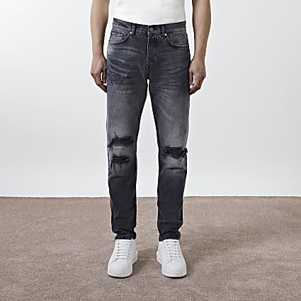 Black Dylan washed ripped detail jeans