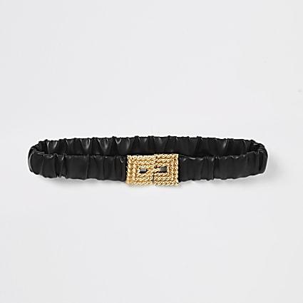 Black elasticated buckle belt