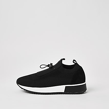 Black elasticated sock trainers