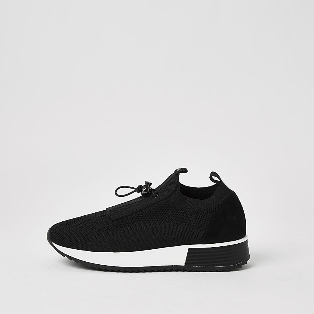 Black elasticated sock trainers