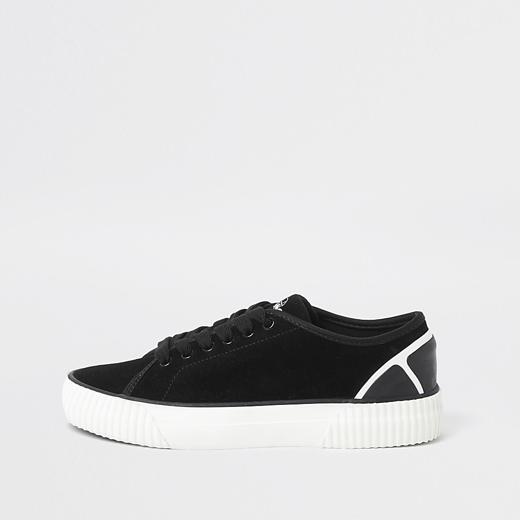 Black Ellesse Tropea Lace Up Pump