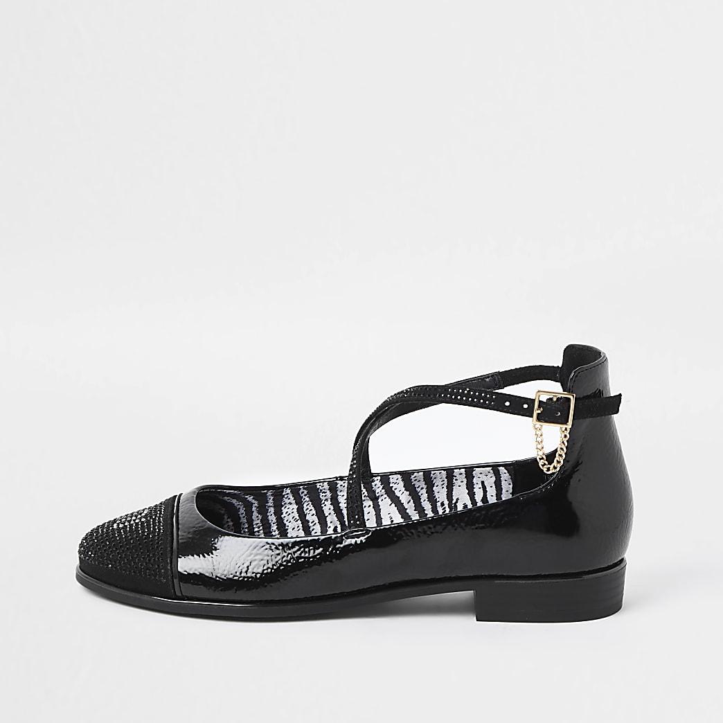 Black embellished Ballet shoe