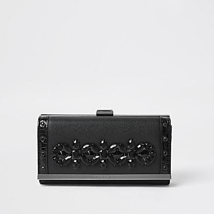 Black embellished clip top purses