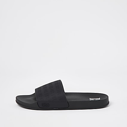 Black embossed RR sliders