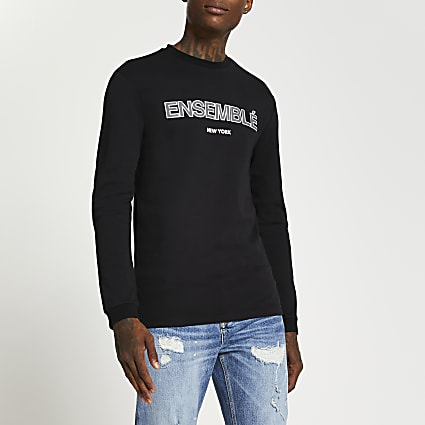 Black 'Ensemble' long sleeve t-shirt