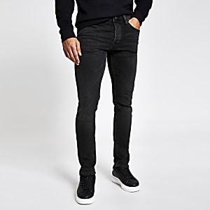 Dylan - Zwarte slim-fit jeans met kleurverloop