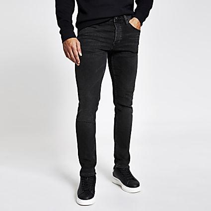 Black faded Dylan slim fit jeans