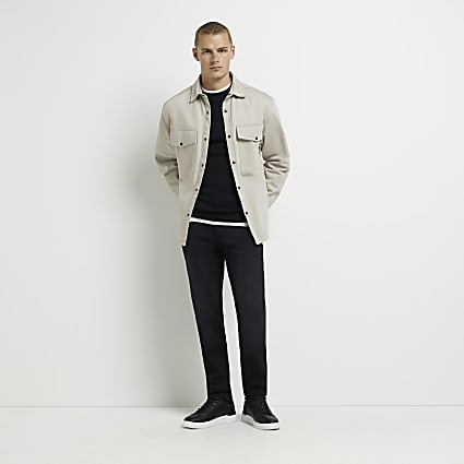 Black faded slim fit jeans